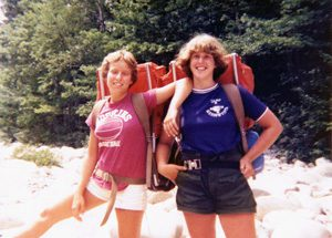 My friend Lisa Robinson and I in the Pemigewasset Wilderness while at Camp Merrowvista in 1976.