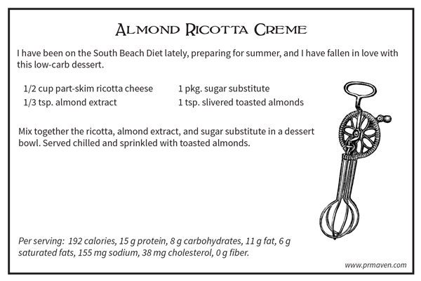Almond Ricotta Cream