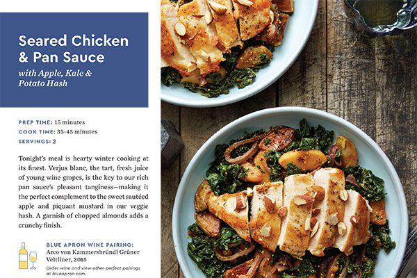 Blue Apron Chicken Kale Hash