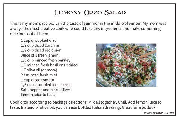 Lemony Orzo Salad