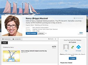 Nancy Marshall's LinkedIn page