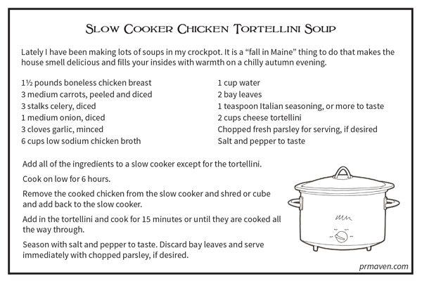 Slowcooker Chicken Tortellini Soup
