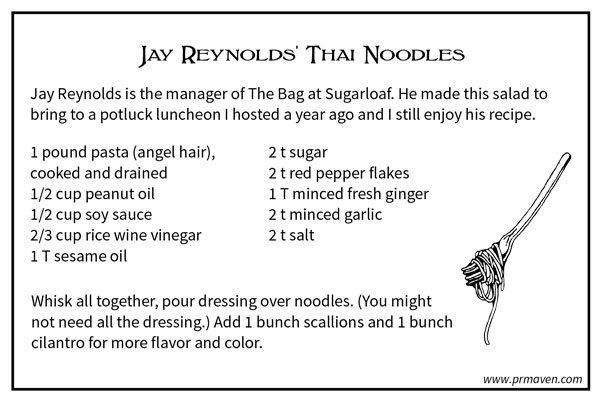 Jay Reynolds' Thai Noodles