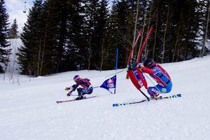 David Chodounsky and Andreas Zampa, World Pro Ski Tour. Photo credit Kei Kullberg